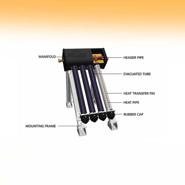 Apricus Evacuated Tubes with Gas Booster