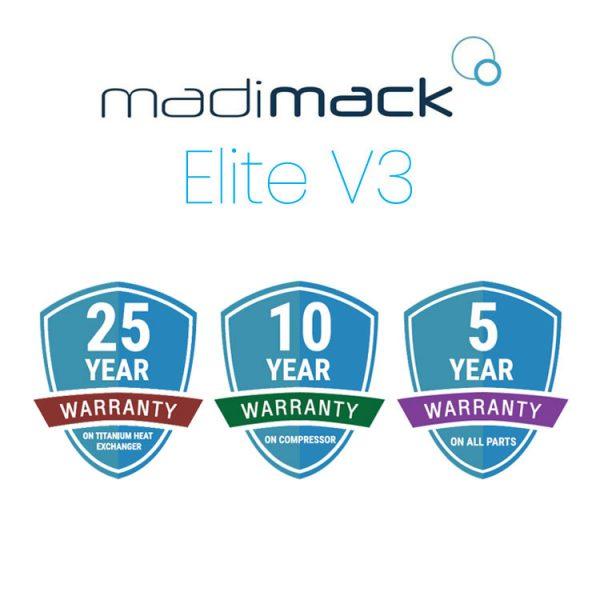 Madimack Elite V3 Pool Heat Pump Warranty