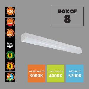 Ecoline MKII LED Batten Lights 12/20W Box of 8