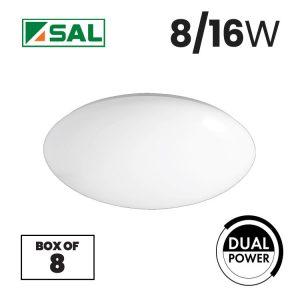 SAL 8/16W Opal LED Oyster Light Box of 8