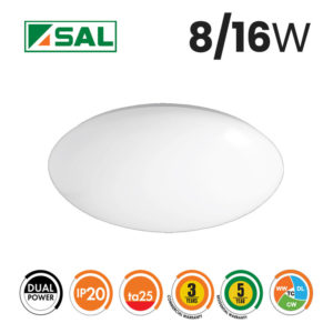 SAL 8/16W Opal LED Oyster Light Box of 8 Specs