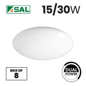 SAL 15/30W Opal LED Oyster Light Box of 8