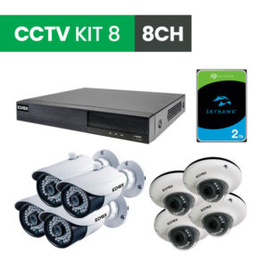 8 Channel CCTV Security Kit 8